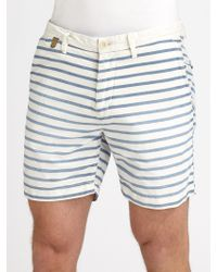 Scotch & Soda Nautical Striped Cotton Shorts - Lyst