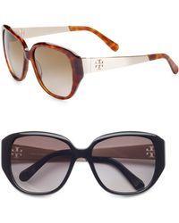 Tory Burch Oversized Acetate Sunglasses - Lyst