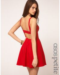 ASOS Collection - Petite Strappy Skater Dress - Lyst