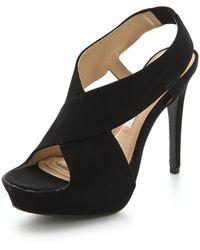 Diane von Furstenberg Zia Suede Platform Sandals - Lyst