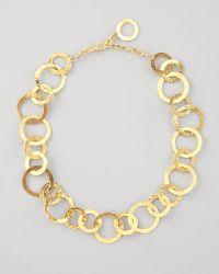 Herve Van Der Straeten -  Hammered Link Necklace - Lyst