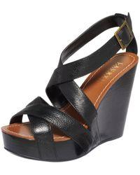 Lauren by Ralph Lauren Dawn Platform Wedge Sandals - Lyst