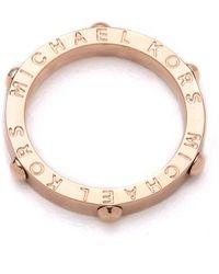 MICHAEL Michael Kors - Michael Kors Heritage Astor Slim Ring - Lyst