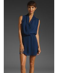Parker Drape Dress - Lyst