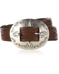 Ralph Lauren Blue Label - Tooled Leather Concho Belt - Lyst
