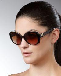 Tory Burch Tortoise Butterfly Sunglasses - Lyst