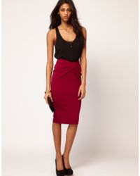ASOS Collection Asos Ponti Pencil Skirt with Twisted Waistband - Lyst
