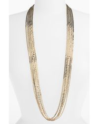 Cara Accessories Long Multistrand Necklace - Lyst