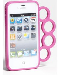 Rebecca Minkoff Knuckles Iphone 4 4s Case pink - Lyst