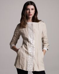 Gryphon - Sequined Trenchcoat - Lyst