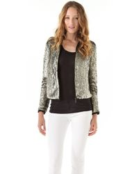 Gryphon - Sequined Bomber Jacket - Lyst