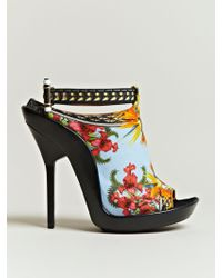 Givenchy Womens Printed Open Toe Stilettos - Lyst