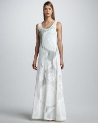 Jean Paul Gaultier Lace Maxi Dress - Lyst