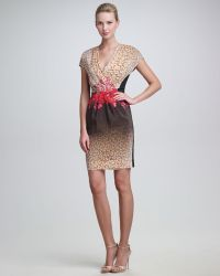 Peter Som Leopard Flowerprint Dress