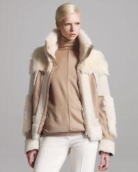 Chloé Reversible Patchwork Fur Jacket - Lyst