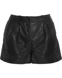 Twenty8Twelve - Collins Washed Leather Shorts - Lyst