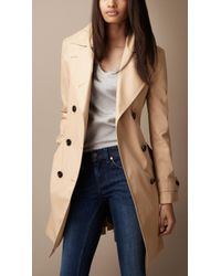 Burberry Brit - Oversize Collar Trench Coat - Lyst