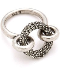 Giles & Brother - Archer Ring with Pave - Lyst