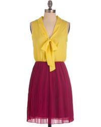 ModCloth Pleats Excuse Me Dress - Lyst