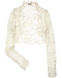 Temperley London Selena Lace Shrug - Lyst