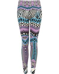 Topshop Zebra Aztec Print Legging - Lyst