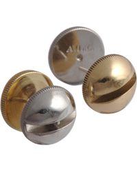 A.L.C. - Brass Silver Screw Stud Earrings - Lyst