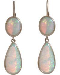 Anaconda - Australian Opal Double Drop Earrings - Lyst