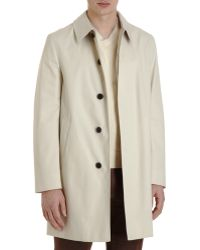 Aquascutum Hidden Placket Coat - Lyst