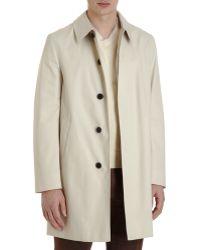 Aquascutum Hidden Placket Coat beige - Lyst
