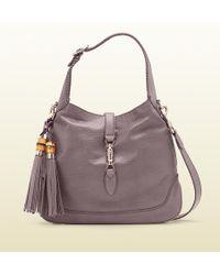 Gucci New Jackie Leather Shoulder Bag - Lyst
