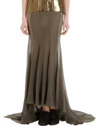 Haider Ackermann Brown Fishtail Skirt - Lyst
