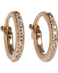 Ileana Makri - Pink Gold Mini Hoop Earrings - Lyst