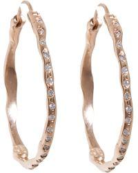 Lucifer Vir Honestus - Diamond Medium Organic Hoop Earrings - Lyst