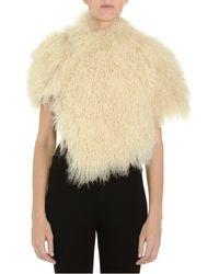 Maison Margiela Goat Hair Bolero Jacket beige - Lyst