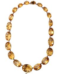 Olivia Collings - Citrine Large Riviere Necklace - Lyst