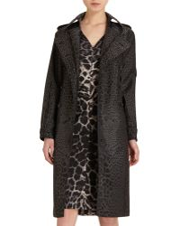 Saint Laurent Long Leopard Trench - Lyst