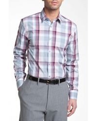Calibrate Trim Fit Stretch Cotton Sport Shirt - Lyst