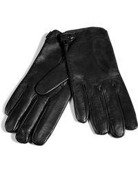 Jil Sander | Black Leather Gloves | Lyst