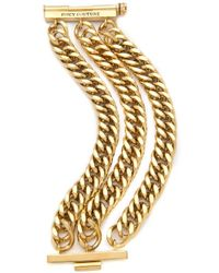 Juicy Couture - Chunky Multi Chain Bracelet - Lyst
