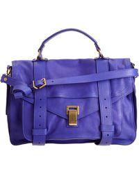 Proenza Schouler Ps1 Medium Leather purple - Lyst