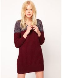 See By Chloé Knitted Dress With Twisted Yarn Panel - Lyst
