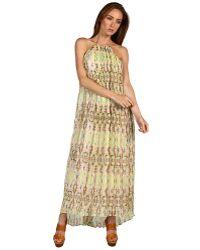Tibi Layla Ikat On Silk Chiffon Long Dress - Lyst