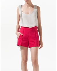 Zara Top with Gathered Shoulder - Lyst