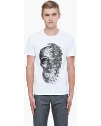 Alexander McQueen White Ivy Skull Tshirt - Lyst