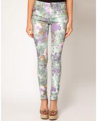 Asos Skinny Jeans in Floral Gerbera Print 4 - Lyst