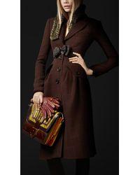 Burberry Prorsum Virgin Wool Tailored Top Coat - Lyst