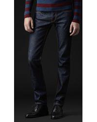 Burberry Prorsum - Skinny Fit Indigo Jeans - Lyst