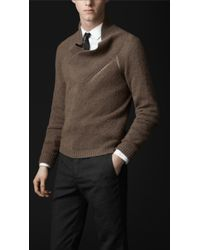 Burberry Prorsum Cashmere Shawl Collar Sweater - Lyst