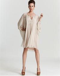 Diane von Furstenberg Dress New Fleurette Chiffon beige - Lyst