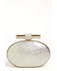 Jimmy Choo Calista Glitter Clutch - Lyst